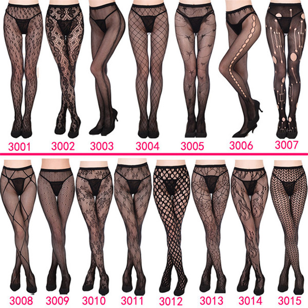 best selling Women's Fishnet 2019 NEW 30 styles Sexy Women Long Fishnet Sexy Stockings Pantyhose Mesh Stockings Lingerie Skin Thigh High Stocking ZSFS003