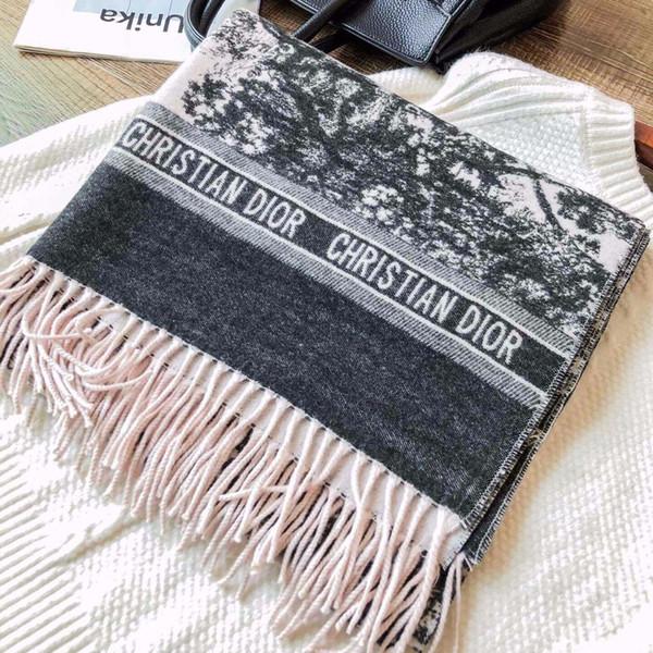 Señora diseñadores de moda termal del invierno de la bufanda del millonario impresión bufandas suaves de otoño bufanda chales Luxurysss Para las mujeres regalo 180 * 70cm