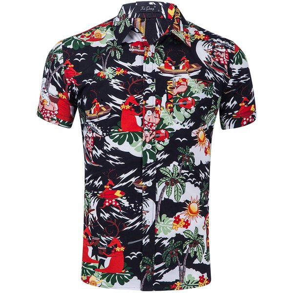 Mens Summer Designer Beach Tshirts Short Sleeve Flower Print Srand Collar Fashion Clothing Businesss Loose Relaxed Apperal