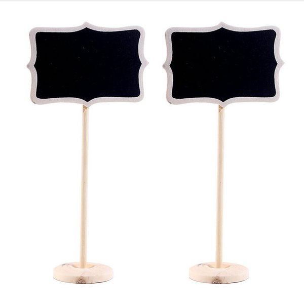 1 PCS Vintage Mini Wood Table Number for Wedding Event Party Decoration Chalkboard Blackboard Wooden Place Card Holder