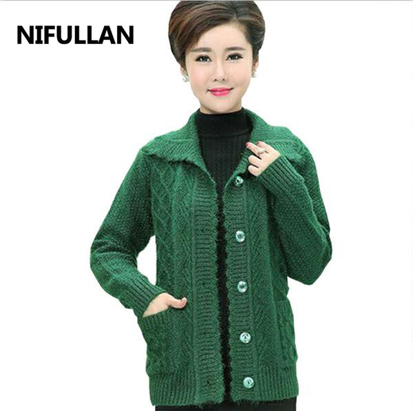 designer fashion best deals on fashion 2019 NIFULLAN Middle Age Women Plus Size Fall Winter Warm Mohair Cardigan  Coat Mother Clothes Thicker Christmas Sweater Pull Femme From Housecoat, ...