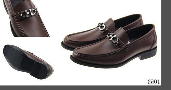 duping520 SF Real Leather Cowhide Men Casual Shoes Designer Mocassin Dress Shoes Zapatos Hombre Drivers Loafers Shoes 40-46