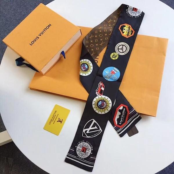 Envío gratis Diseñador de lujo BOLSO bufanda Diadema mujeres seda scraves Diadema de seda de grado superior Can For Handbags Scarff14d #