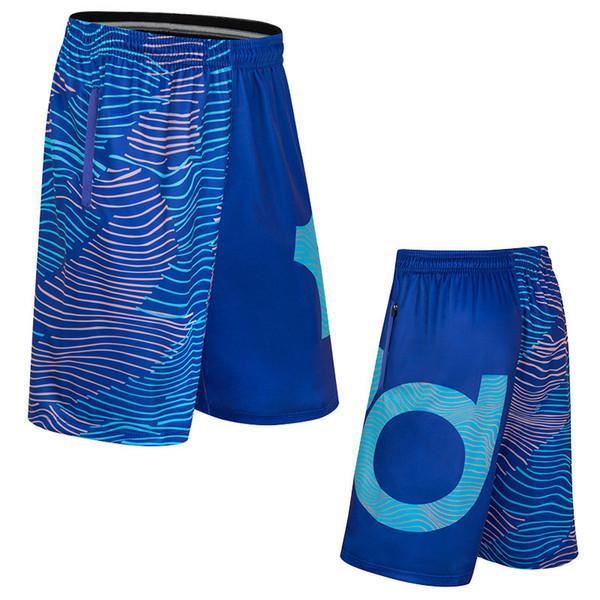 Verão kd basquete homens correndo calças curtas na altura do joelho bolso com zíper ginásio shorts do esporte masculino plus size q190525