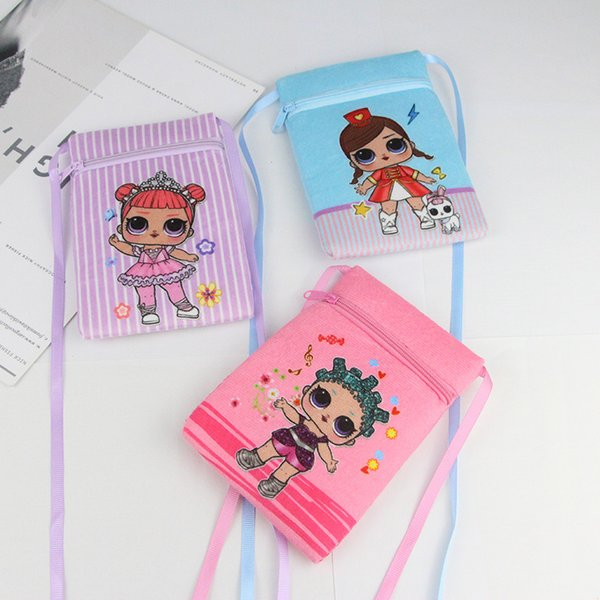 Ins Überraschung Mädchen Mini Brieftasche Cartoon Prinzessin Mädchen Geldbörse Reißverschluss Kleine Quadratische Tasche Schlüsseletui Teenager Kinder Tragbare Handtaschen C51704