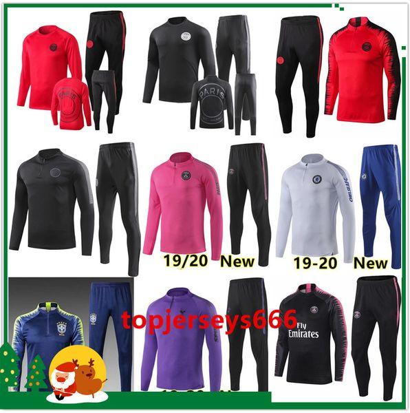 New 2019-2020 psg soccer Tracksuit 18/19/20 mens chandal tracksuit football training suit survetement psg