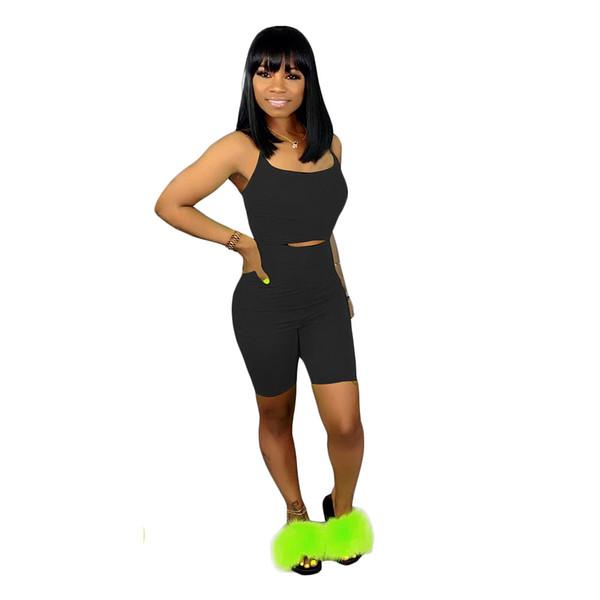 Frauen ärmellose herausgeschnittene Taille schnüren sich oben zurück bodycon dünnen knielangen Overall sexy sportlichen Playsuit Strampler 3 Farbe