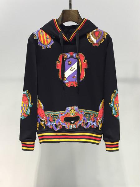2019 New Fashion Sport Hoodie Sweatshirt Men Designer Hoodie Pullover Printed Long Sleeve Streetwear Black Hip Hop Sweater Plus Size M-3XL