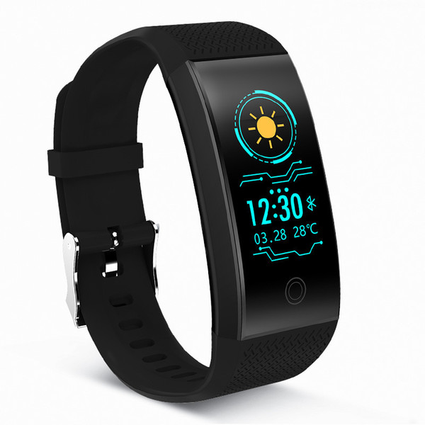 Smart2019 Qw18 Heart Rate Monitor Motion Trajectory Incoming Telegram Information Remind Color Screen Bracelet Generation Hair