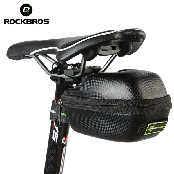 ROCKBROS Bike Bicycle Bag PU Leather Cycling Bike Waterproof Rear Saddle Bag MTB Seatpost Tail Rear Panniers Bicycle Accessories #122078