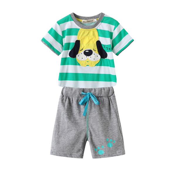 Summer Children Clothing Sets Cartoon Toddler Boys Clothing Sets Dog T Shirt Kids Casual Boys Clothes Sport Suits Outfit