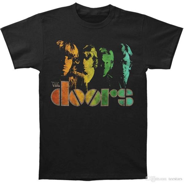 2018 Yeni Yaz Erkekler Sıcak Satış Moda Kapılar erkek Spectrum T-shirt Boyutu S 3XLSleeves Çocuk Pamuk Erkekler T-Shirt