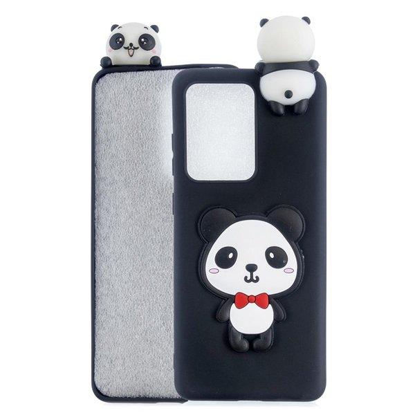 Panda com curva vermelha