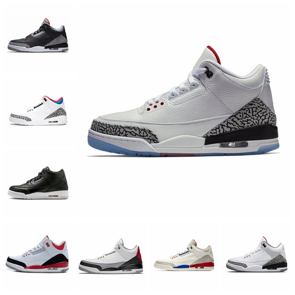 Nike Air Jordan Original AJ AJ3 Chlorophyll Mocha 3s Tinker 3 III Mens Scarpe da pallacanestro Katrina Knicks Competitor Quai WOLF Grey Sports Sneakers sportive per uomo all'aperto