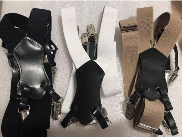 Kaliteli yeni moda siyah beyaz haki klasik desen logosu Ile 3 renk askı, Elastik askı bayan kayış