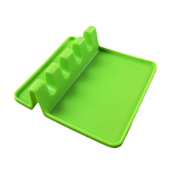 1 Pz silicone Rack Pad Spatola Pot Coperchio Cucchiaio Colander Holder stand Resto Cucina strumento Fping