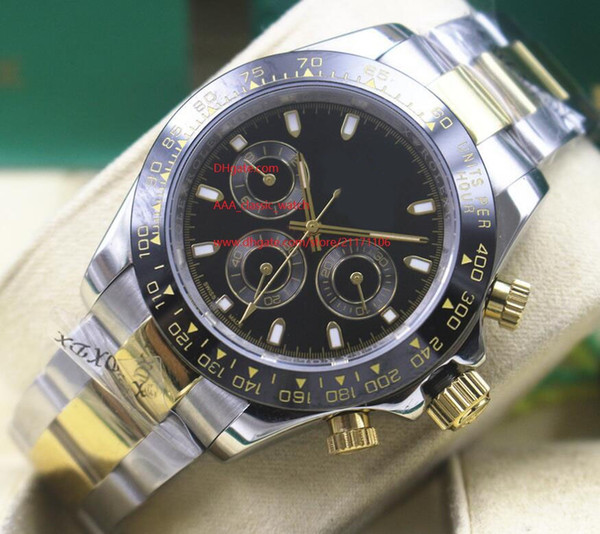 Luxury high quality watch sapphire 40mm 116523 black dial no timing mechanical automatic men's watch watches