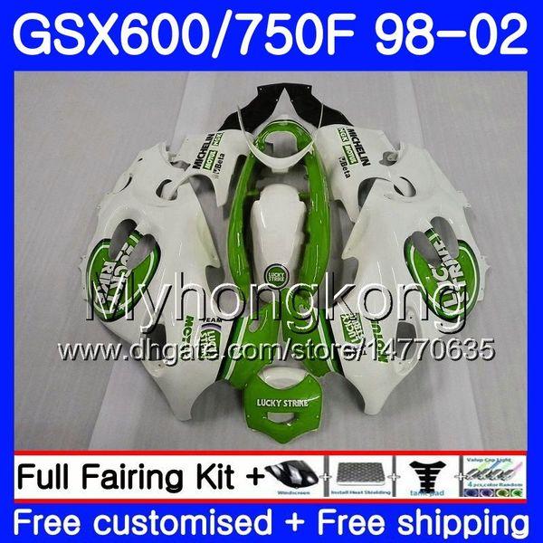 Cuerpo para SUZUKI GSXF 750 600 GSXF750 1998 1999 2000 2001 2002 lucky green hot 292HM.75 GSX 600F 750F KATANA GSXF600 98 99 00 01 02 Carenado