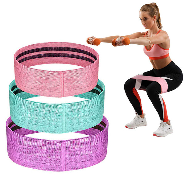 Resistance Band Cotton Ring Exercise Belt Hip Hip Belt Exercise Belt For Body Stretching Yoga Pilates Muscle Training