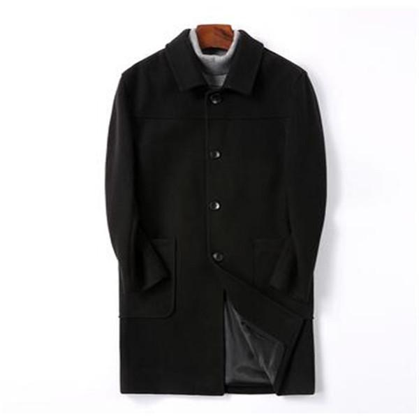 Lana Giacche di lana cappotti classico lunga dei nuovi uomini di Mans calde di vendita di primavera Windbreakers Wool Trench Uomo Slim Fit M-4XL