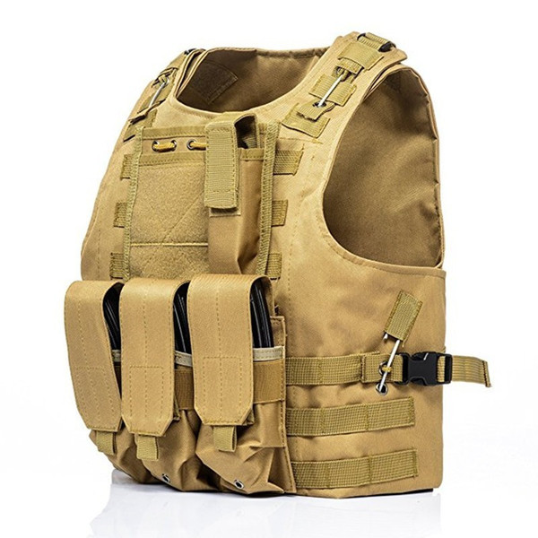 Outdoor Combat Tactical Vest Field Caccia CS Shooting Camp Camouflage Molle Gilet Army Fan Training Protect Gear