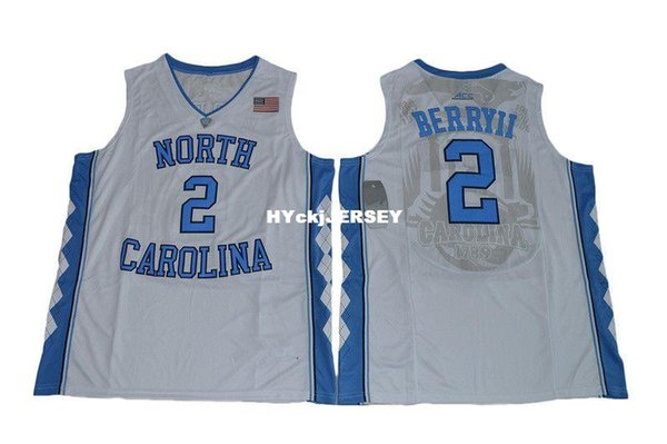 #2 Joel Berry II Jersey North Carolina Tar Heels College Retro Top stitched embroidery basketball jerseys vest Jerseys NCAA
