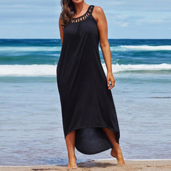 Новая мода женщин плюс размер S-2XLSize пляжная одежда пляжная одежда бикини прикрыть кафтан дамы макси платье молодые девушки пляжное платье V10