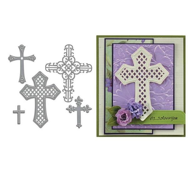 5PCS/Set Cross Metal Cutting Dies Stencils DIY Scrapbooking Album Paper Cards Craft Decoration Embossing Christmas Dies