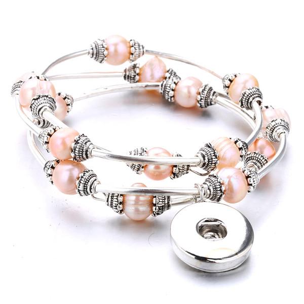 20 Bijoux Mixte Bracelet Cuir pr Européen Perle 18mm