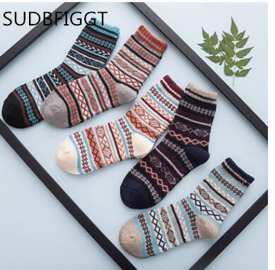 5pairs 2018 NEW winter warm socks man Le calze di lana di coniglio Mens calze di lana di alta qualità