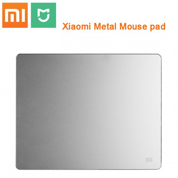 100% Original Xiaomi Metal Mouse Pad High Quality Luxury Slim Aluminum Computer Pads Frosted Matte for xiaomi PC laptop Keyboard