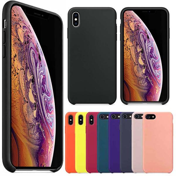 Funda de silicona premium para el nuevo iPhone 2019 iPhone XS Max XR XS 8 Plus Funda de silicona para teléfono para Apple con paquete