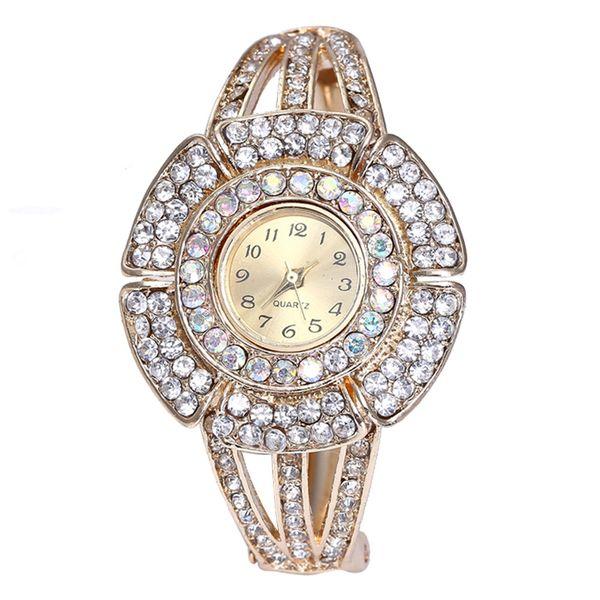 Fashion Women watches stainless strip Leisurely Quartz wriswatches For ladies perfect diamond bracelet gift montre femme AA4
