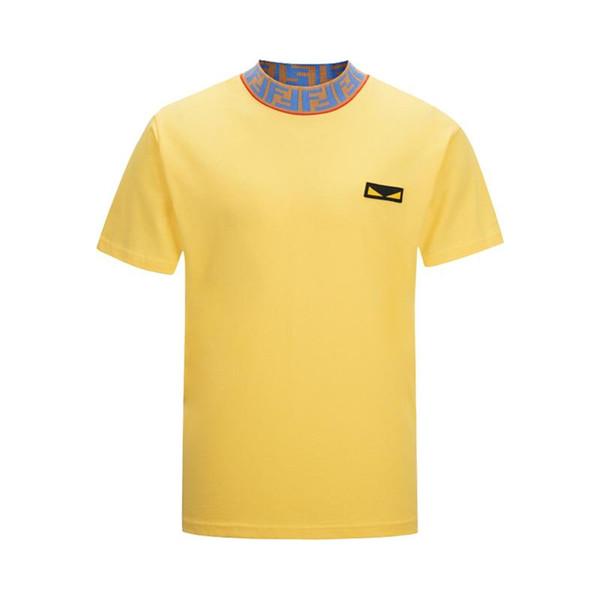 2019 latest summer designer T-shirt men's shirt FF letter embroidery T-shirt men's clothing brand short-sleeved T-shirt women&#039