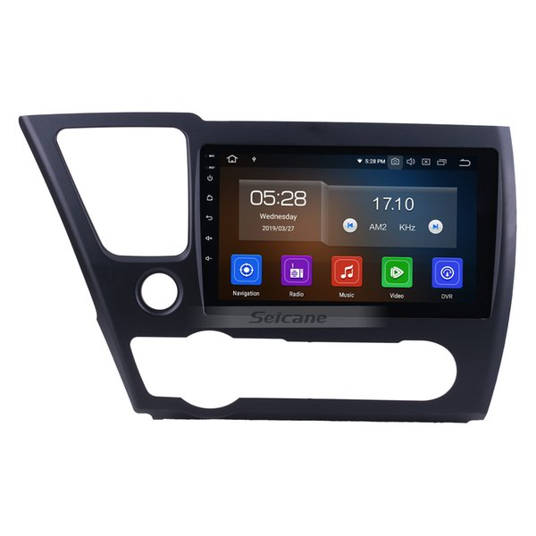 9 Inch HD TouchScreen Android 9.0 Car GPS Navigation for 2014 2015 2016 2017 Honda Civic with Bluetooth Mirror link USB support car dvd OBD