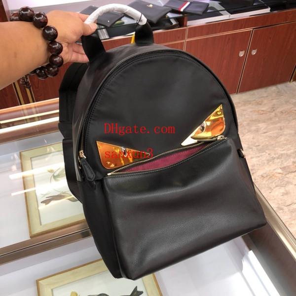 2019 luxe off Alta qualidade branco mochila unisex casual simples padrão tendência mochila