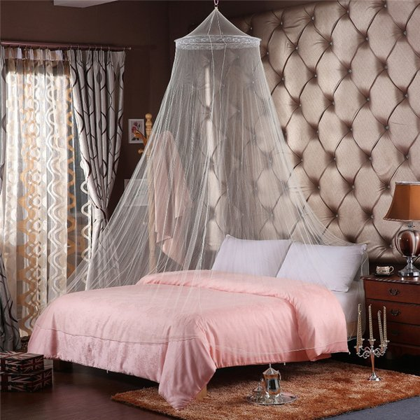 Summer Polyester Mesh Fabric mosquito nets. Elegant Hung Dome Mosquito Nets Home Textile