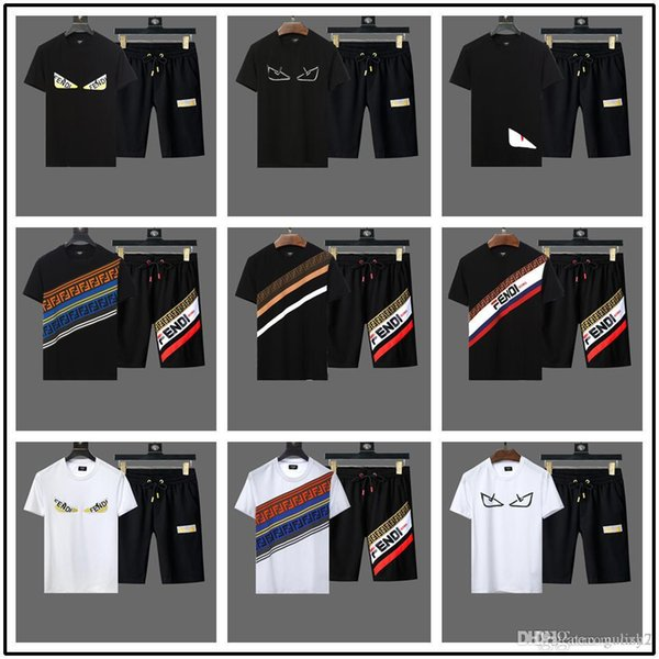 Brand New Sweat-shirt à manches courtes ensemble designer de luxe running running sportswear costume hommes Medusa impression broderie casual Track