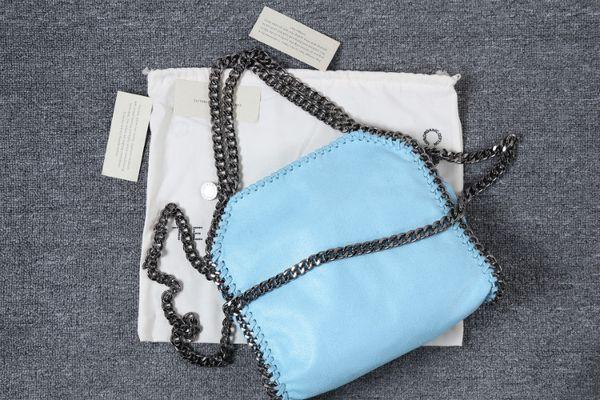 dhl falabella fold over shaggy deer tote Suede bags women 3 chain shoulder bags 25x26x10cm Stella M size fashion shopping chain Mccartnoy