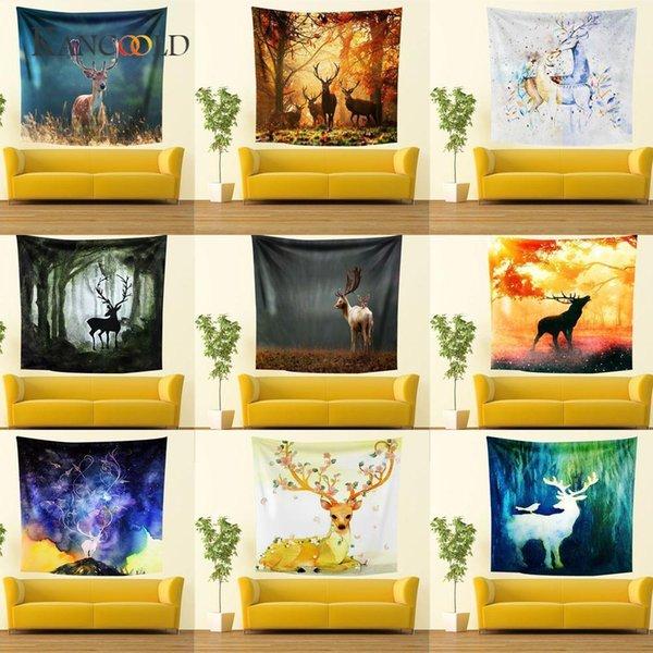 Kancoold шелковый шарф шаль способа печати Уникальный стиль стене висит гобелен Бич Пикник Throw Yoga Mat Полотенце Одеяло Jan23SH190721