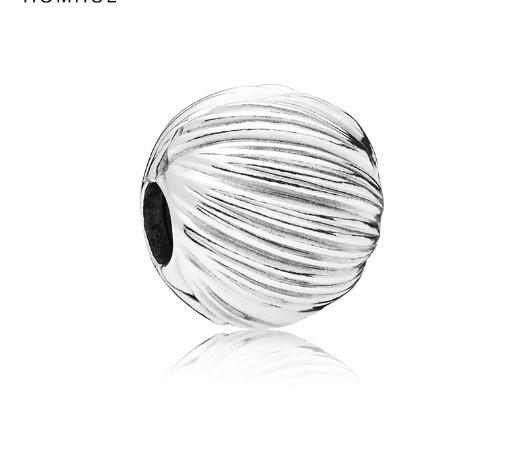 2017 Fit Sterling Silver Bracelet Wave Hollow Ball Charms Beads European Stopper Clip Lock Charm Fits Pandora Bracelet Jewelry Findings