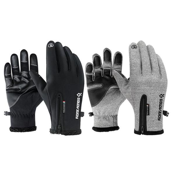 Männer Frauen Fleece Touchscreen Handschuhe Reiten Snowboard Sport Handschuh Im Freien Schnee Skifahren Winddicht Wasserdicht Klettern Handschuh