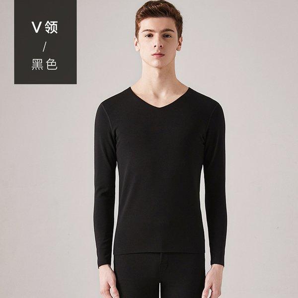 homens # 039; s V-neck-Black