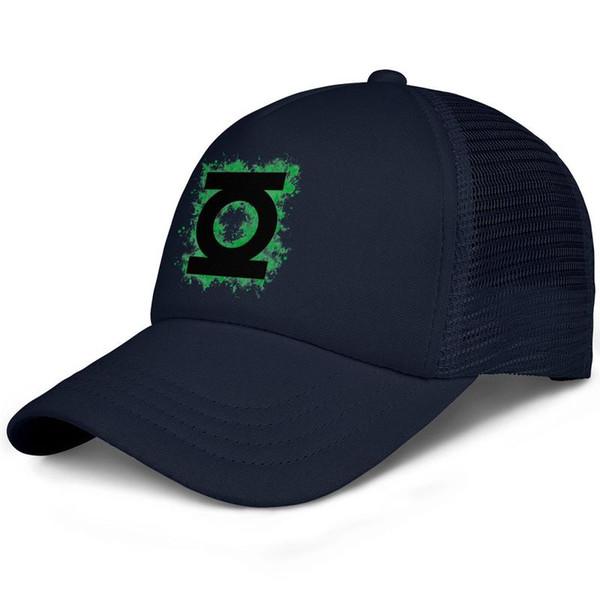 Green Lantern logo Green ink kids baseball caps Classic Teen baseball cap Stylish dark blue cap cute baseball caps hats