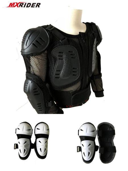Protector del cuerpo de la motocicleta Motocross Racing Full Kids Body Armor Protector Chaquetas de la motocicleta Codo Rodilleras para niños