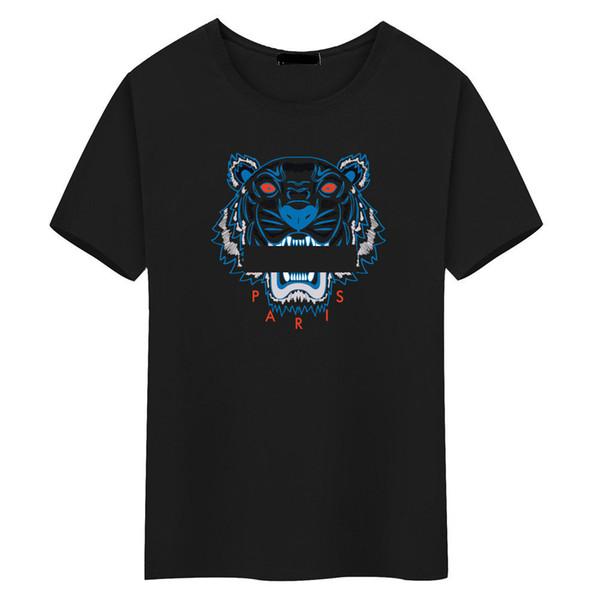 Wholesale Tiger head T shirt Mens Tees Plus Size O-neck short Sleeve T-Shirt man Printed Cotton Tiger head T-shirt polos tees S-5XL