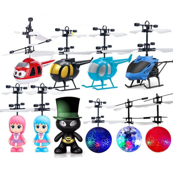 Minion drone RC Helicopter Aircraft Mini drone Fly Flashing helicopter Hand Control RC Toys Minion Quadcopter Drone LED Kids Toys (Retail)