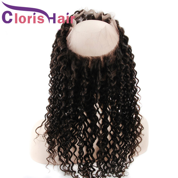 Deep Wave Full Frontals 22x4x2 Closure Unprocessed Brazilian Virgin Human Hair Pre Plucked Curly 360 Lace Frontal Closure Natural Hairline