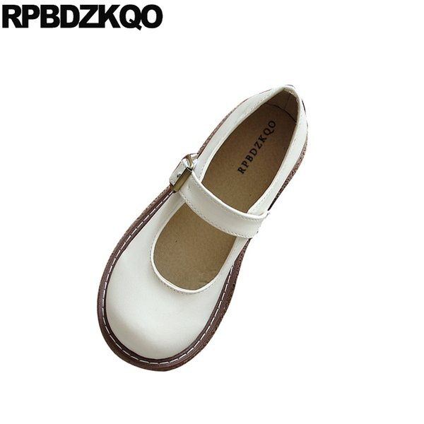 retro round toe chinese cheap shoes china vintage comfy spring autumn flats designer walking comfortable japanese school 2019