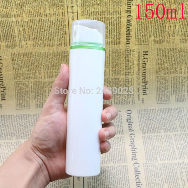 Airless Pump Bottle Transparent Cap Green Edge Lotion Serum Liquid Foundation Empty Cosmetic Containers 10pcs/lot